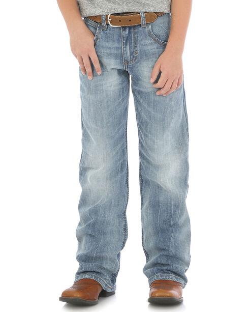 Wrangler Boys' (8-16) Indigo Retro Relaxed Fit Boot Cut Jeans - Husky , Indigo, hi-res
