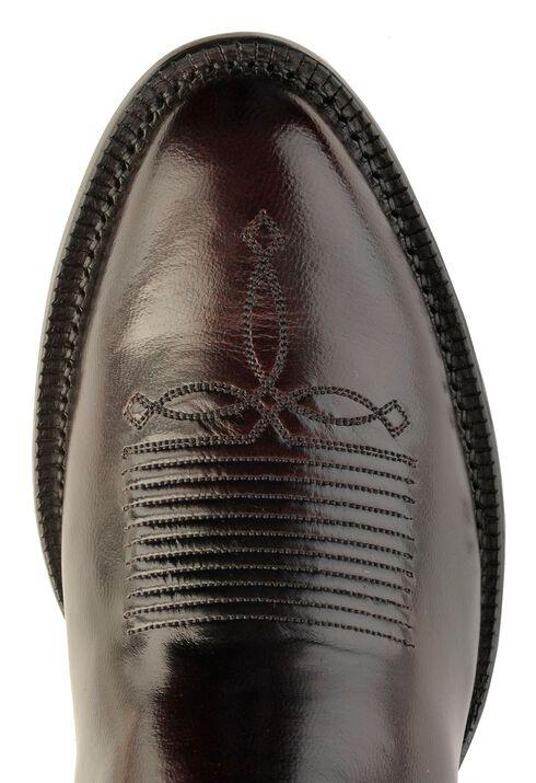 Tony Lama Signature Series Black Cherry Brushed Goat Cowboy Boots - Round Toe, Black Cherry, hi-res