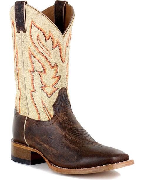 Cody James Men's Vaquero Bone Western Boots - Square Toe, Brown, hi-res