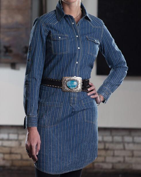 Ryan Michael Women's Helena Shirt Dress, Indigo, hi-res