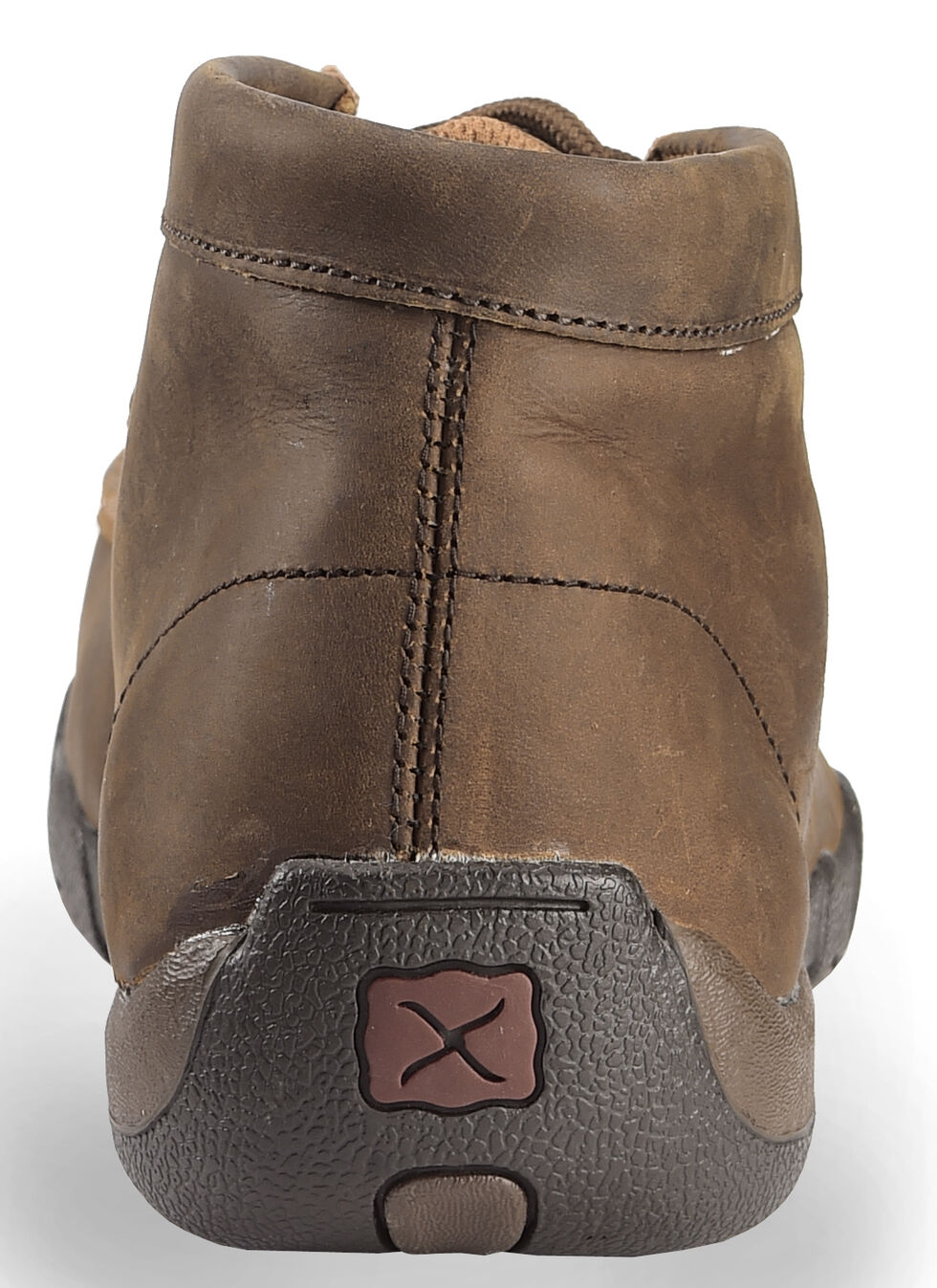 Twisted X Driving Lace-Up Moccasin Shoes - Steel Toe, Brown, hi-res