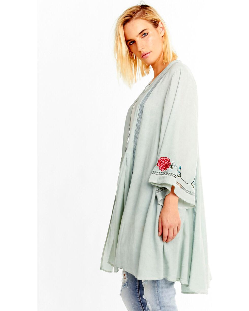 Aratta Women's Sweet Pea Kimono, Teal, hi-res
