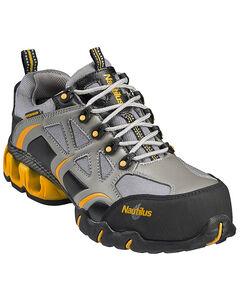 Nautilus Men's Nylon Microfiber Athletic Work Shoes - Composition Toe, Grey, hi-res