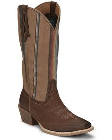 Justin Women's Siesta Western Boots, Brown, hi-res