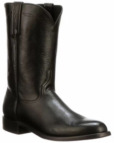 Lucchese Men's Majestic Roper Western Boots - Round Toe, Black, hi-res