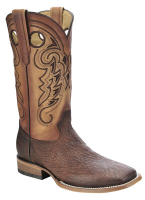 Corral Shark Vamp Cowboy Boots - Square Toe, Tan, hi-res