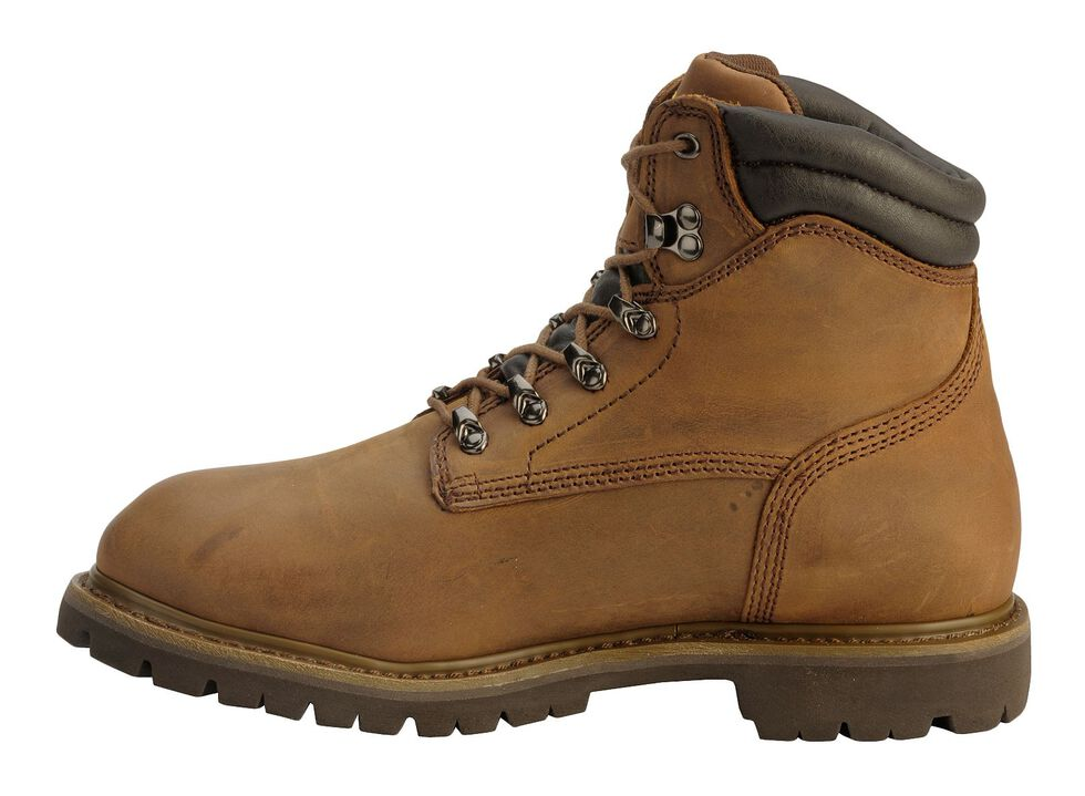 "Chippewa Waterproof & Insulated Tough 6"" Lace-Up Work Boots - Composite Toe, Bark, hi-res"
