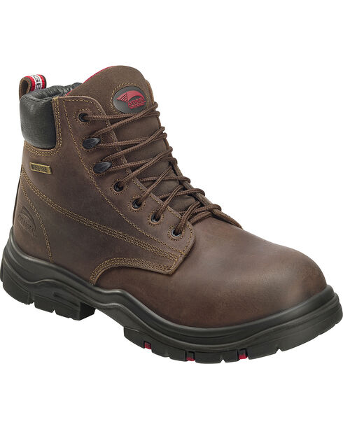 "Avenger Men's Waterproof 6"" Lace-Up Work Boots - Composite Toe, Brown, hi-res"