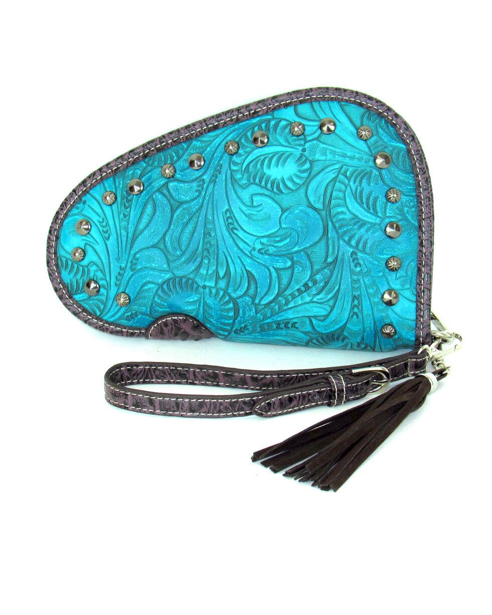Savana Women's Tooled and Studded Handgun Case , , hi-res