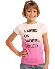 Rock & Roll Denim Girls' Carrie & Taylor Tee, Pink, hi-res