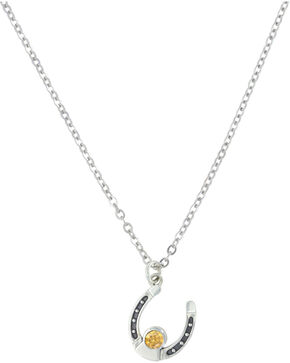 Sterling Lane Women's November Birthstone Necklace , Silver, hi-res