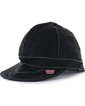 American Worker Men's Black Welding Cap, Black, hi-res
