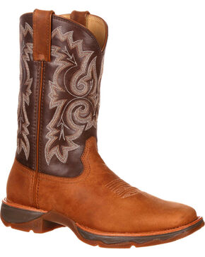 Durango Women's Ramped Up Lady Rebel Western Boots - Square Toe, Tan, hi-res