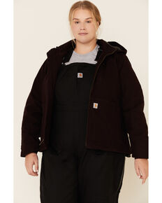 Carhartt Women's Wine Full Swing Caldwell Duck Jacket - Plus, Wine, hi-res