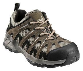 Nautilus Men's Suede Leather Work Shoes - Composite Toe, Khaki, hi-res