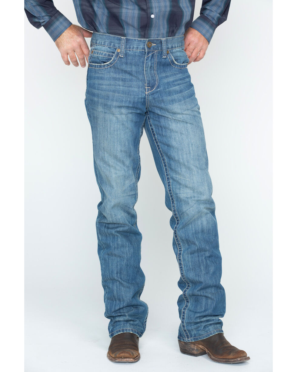 Cody James Men's Whip Stitch Boot Cut Jeans , Blue, hi-res