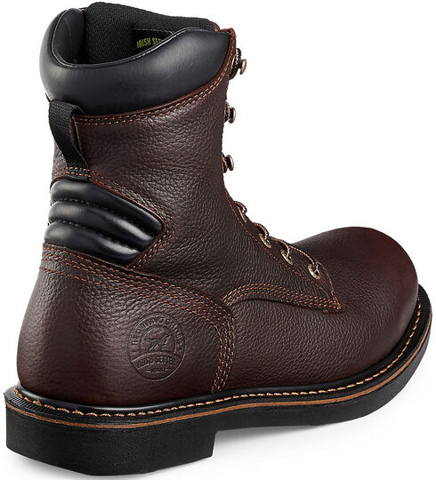 "Irish Setter by Red Wing Shoes Men's Farmington 8"" Work Boots - Soft Round Toe, Brown, hi-res"