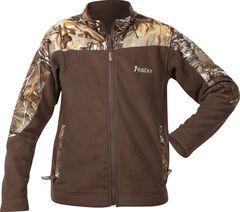 Rocky Boys' Realtree Camo Fleece Jacket, Brown, hi-res
