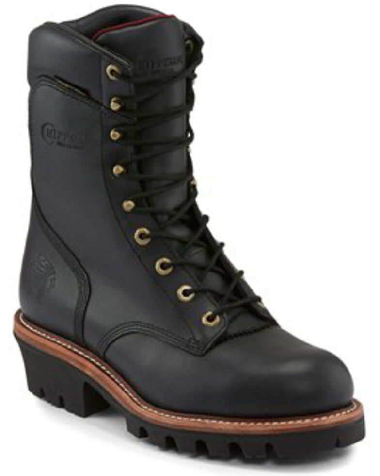 Chippewa Men's Waterproof Work Boots - Steel Toe, Black, hi-res