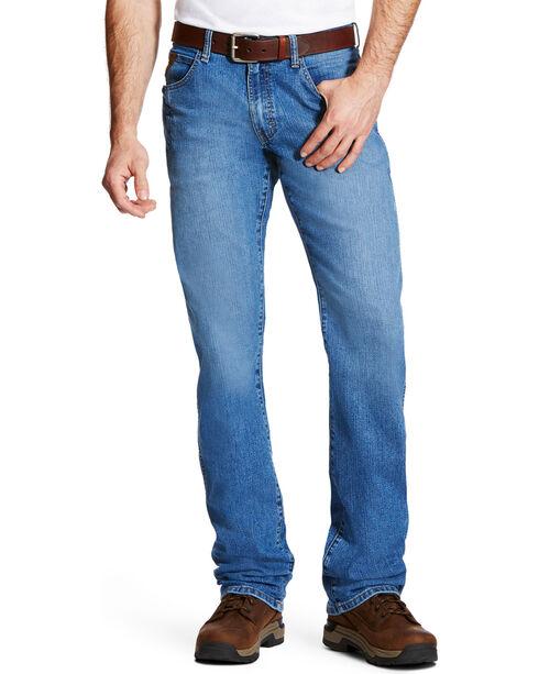 Ariat Men's Rebar M4 Blue Haze Low Rise Jeans - Boot Cut, Blue, hi-res