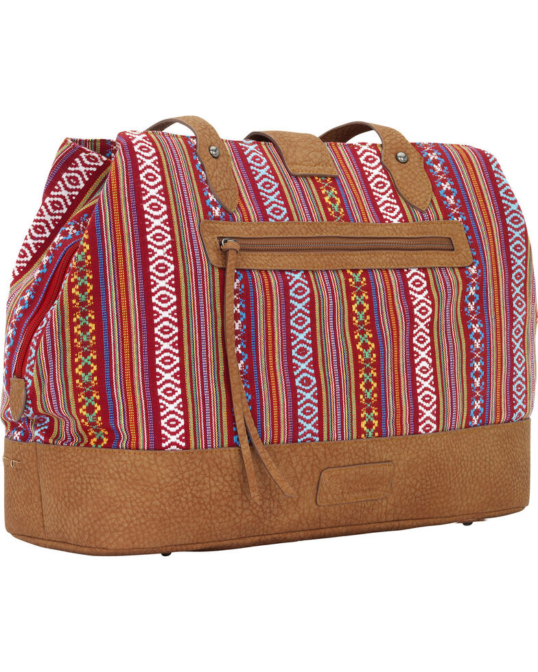 Bandana by American West Women's Buena Vista Multi-Compartment Large Tote , Red, hi-res