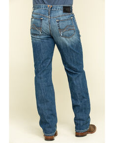 Ariat Men's Riverbend Val Stackable Rigid Relaxed Bootcut Jeans , Blue, hi-res