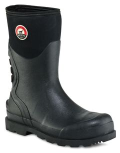 Red Wing Irish Setter Stillwater Waterproof Pull-On Boots - Steel Toe, Black, hi-res