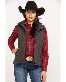 Ariat Women's Banyan Bark Terrace Vest, Brown, hi-res