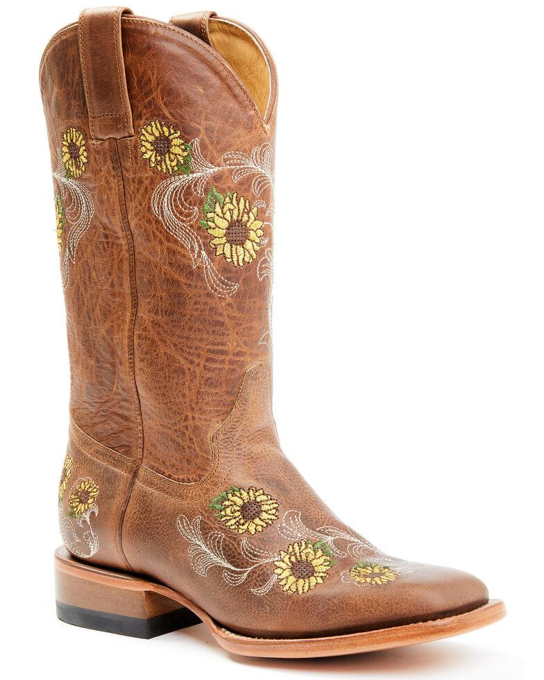 Shyanne Women's Josie Western Boots - Square Toe , Brown, hi-res