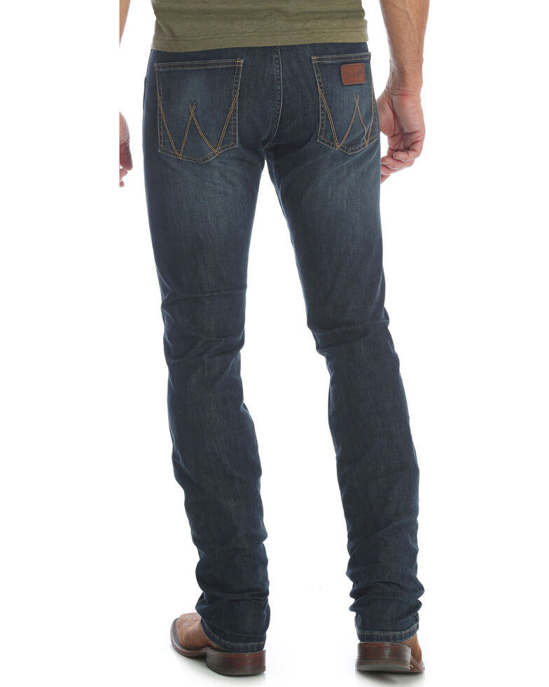 factory meticulous dyeing processes cheapest sale Wrangler Retro Men's Blue Stretch Skinny Jeans