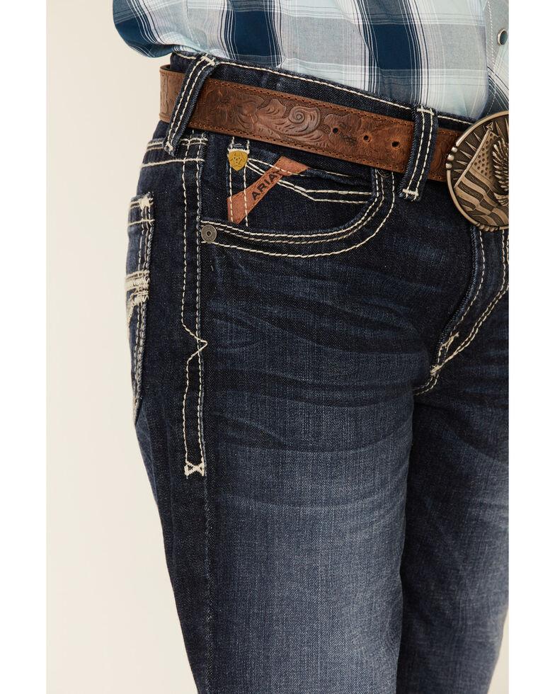 Ariat Boys' B5 Dark Slim Straight Leg Jeans , Blue, hi-res