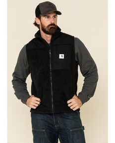 Carhartt Men's Black M-Yukon Extremes Wind Fighter Fleece Work Vest , Black, hi-res