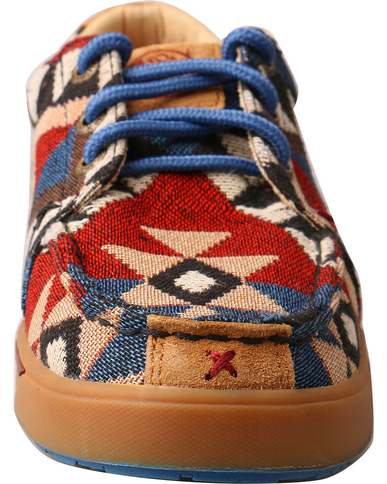 0e17f4232dd Hooey Lopers by Twisted X Youth Boys  Pattern Canvas Shoes - Moc Toe ...