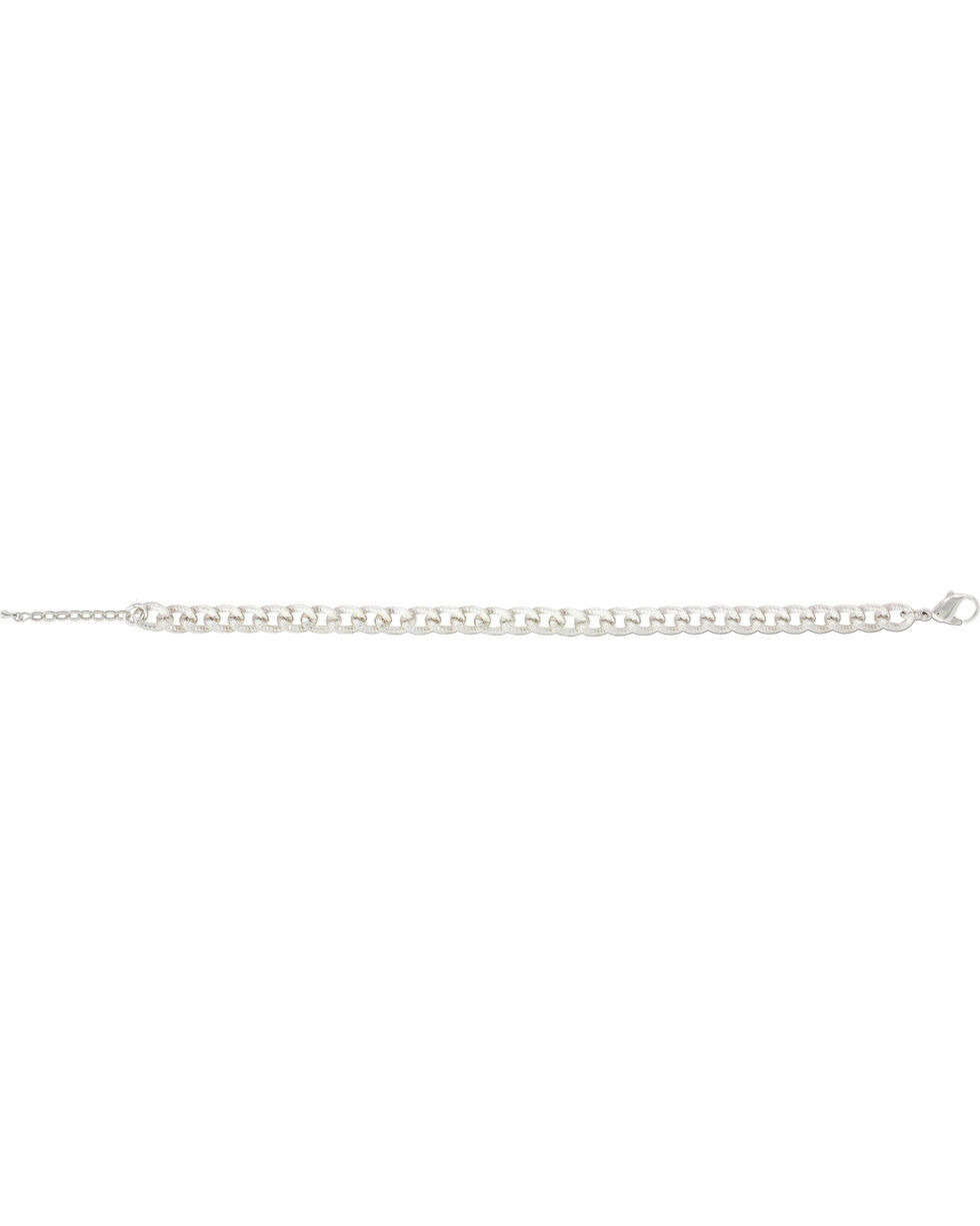 Montana Silversmiths Women's Silver All The Little Horseshoes All In A Row Bracelet , Silver, hi-res