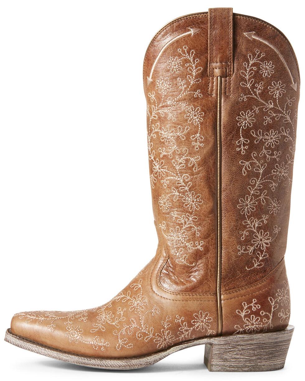 Ariat Women's Fleur Cashew Western Boots - Square Toe, Brown, hi-res