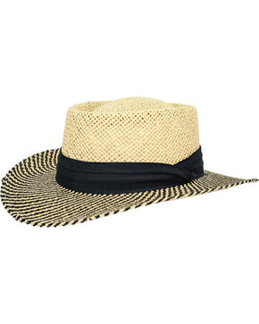 Peter Grimm Men's Straw Mackay Hat , Natural, hi-res