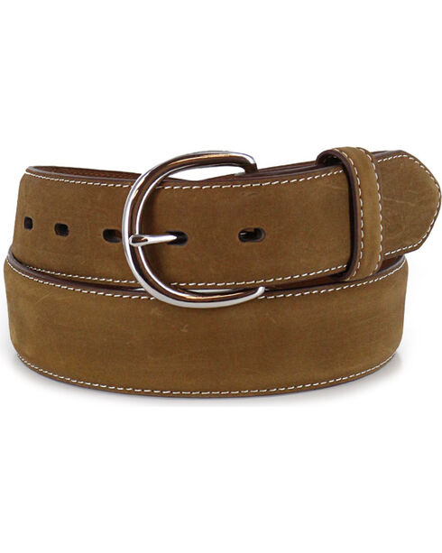 Silver Creek Men's Bay Apache Billet Overlay Western Belt, Brown, hi-res