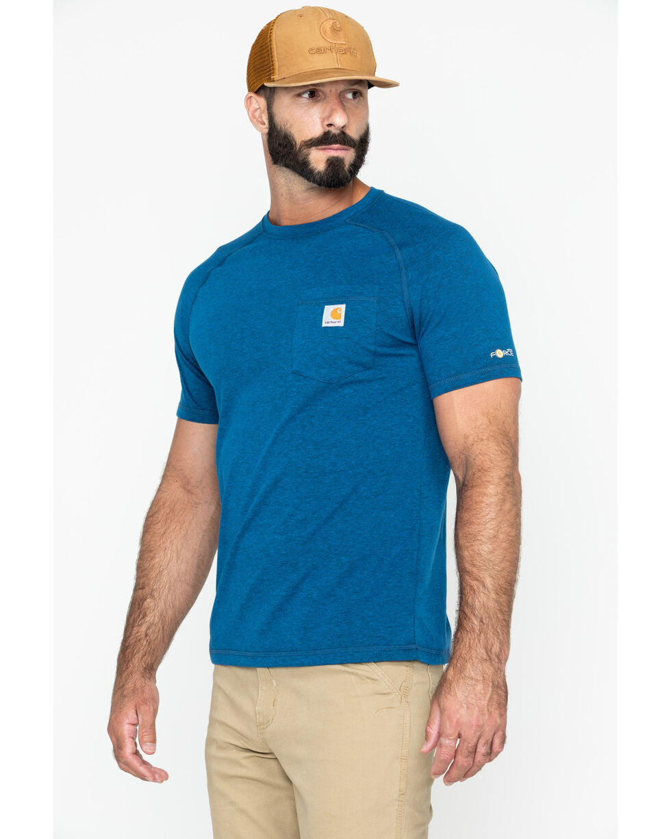 Carhartt Force Cotton Short Sleeve Work Shirt - Big & Tall, Navy, hi-res