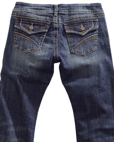 Tin Haul Women's Dolly Celebrity Flap Pocket Bootcut Jeans, Denim, hi-res