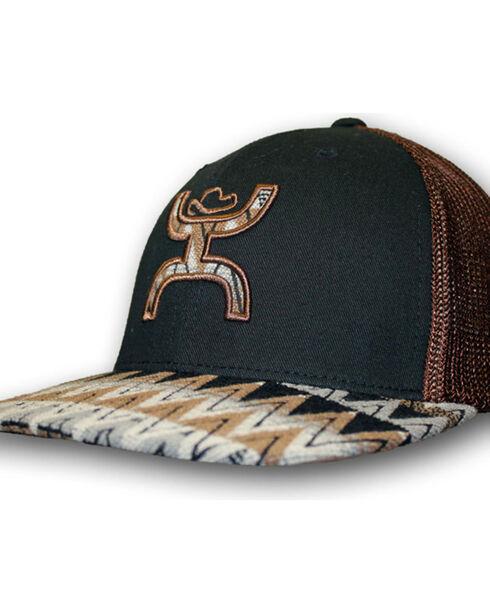 HOOey Men's Tut Aztec Pattern Cap, Black/brown, hi-res