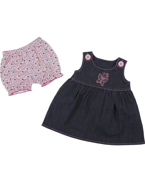 Wrangler Toddler Girls' Indigo Sleeveless Denim Jumper , Indigo, hi-res