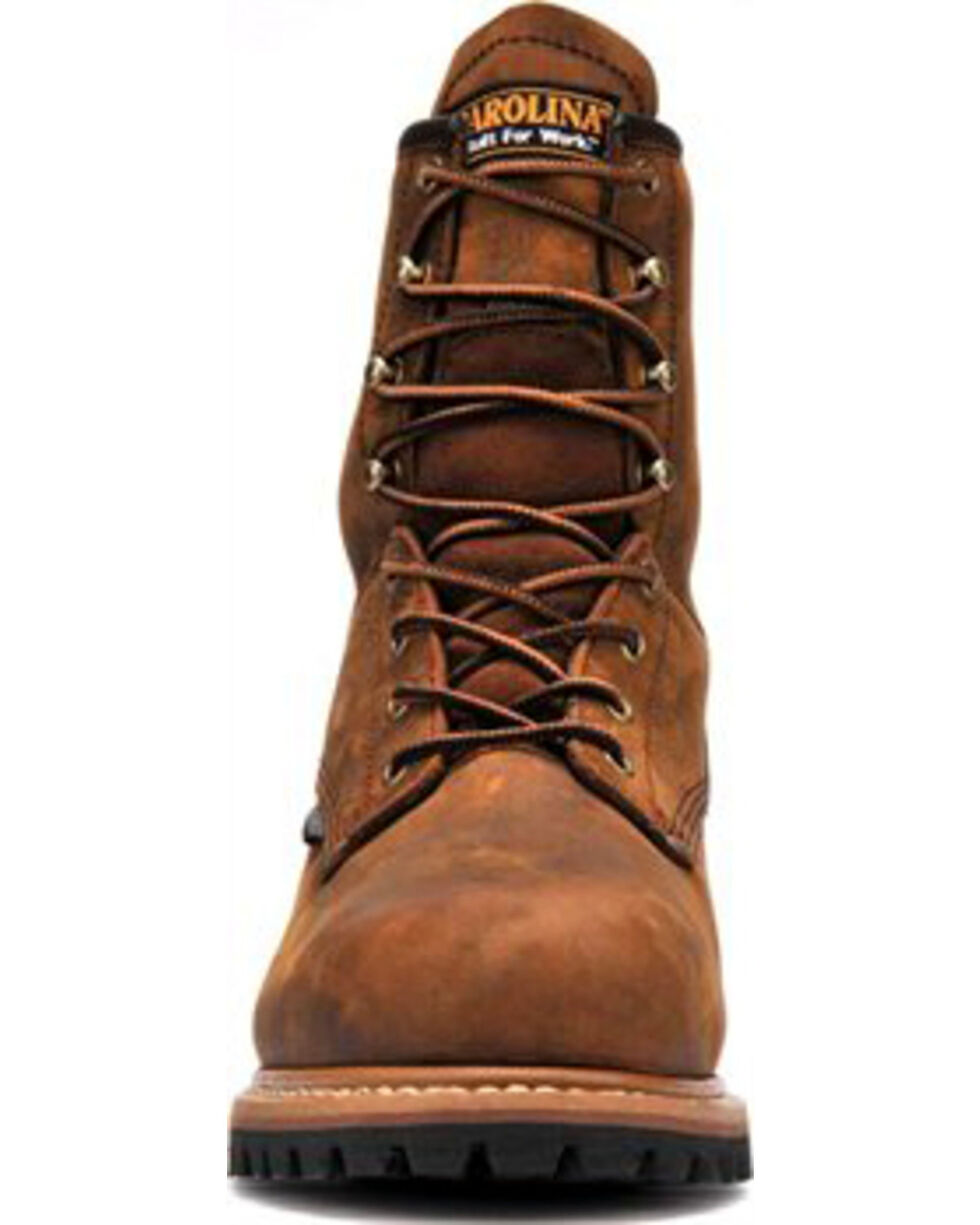 Carolina Men's Brown Waterproof Insulated Logger Boots - Steel Toe, Brown, hi-res