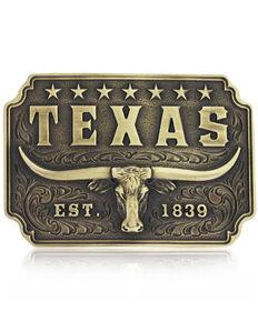 Montana Silversmiths Men's Classic Texas Longhorn Buckle, Bronze, hi-res