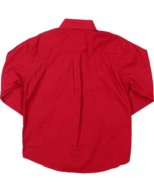 Panhandle Select Boys' Diamond Pattern Long Sleeve Shirt, , hi-res