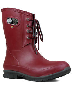 Bogs Women's Red Amanda Plush Insulated Work Boots - Round Toe, Fuscia, hi-res
