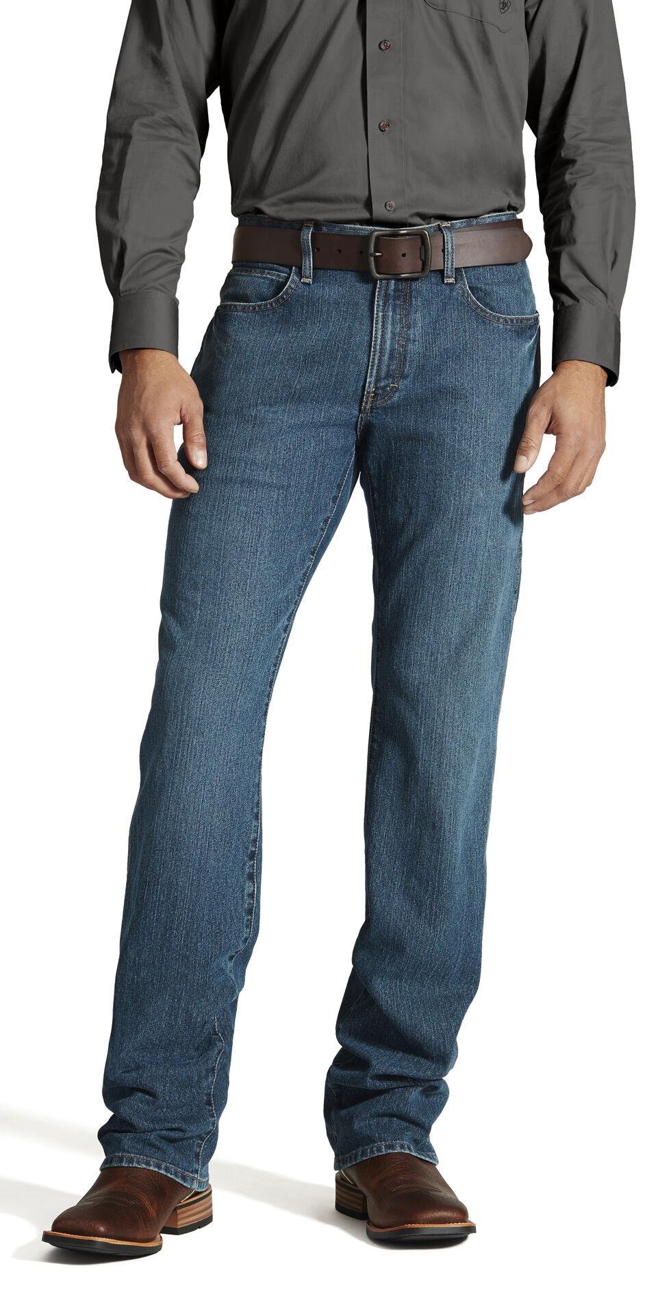 Ariat Men's Jeans - M4 Rebar Bootcut Relaxed Fit, Denim, hi-res
