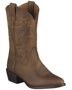 Ariat Youth Boys' Heritage Western Boots, Brown, hi-res