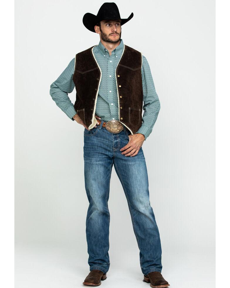 Scully Leatherwear Men's Brown Boar Suede Hunting Vest , Brown, hi-res