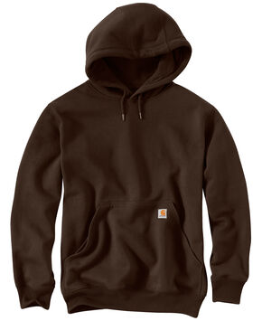 Carhartt Rain Defender Paxton Heavyweight Hooded Sweatshirt, Dark Brown, hi-res