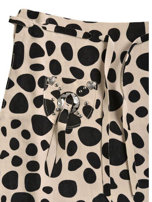 Girls' Cowprint Cowgirl Vest & Skirt Set, Black, hi-res